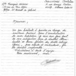Lettre de l'avis de Françoise C.