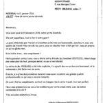 Lettre de l'avis de Raymond et Arlette M