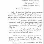 Lettre de l'avis de Pierre O.